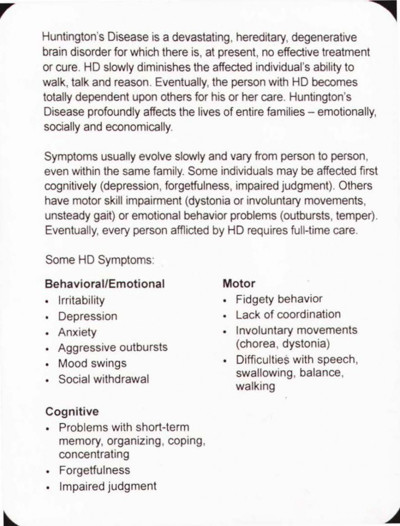 Huntington's disease FAQ_Page_2