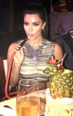 Kardashian hookah smoking