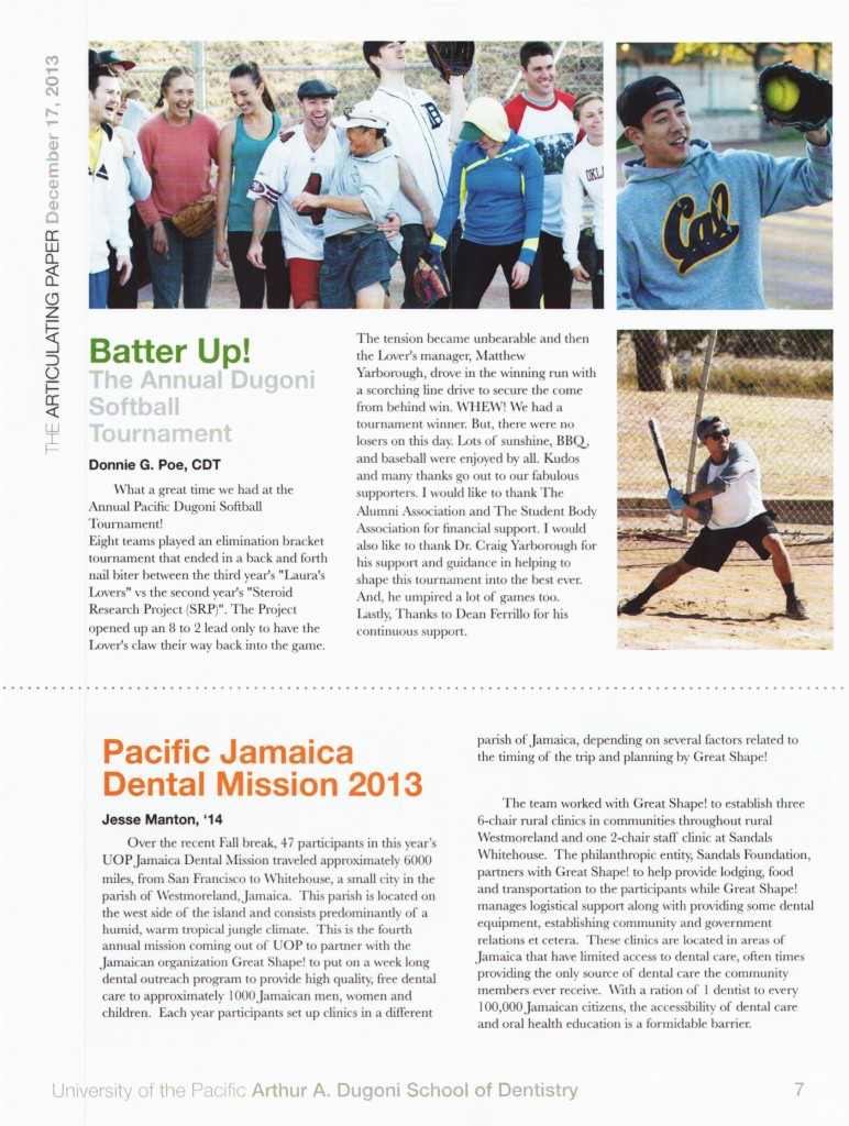 Pacific Jamaica Dental Mission 2013 pg 1