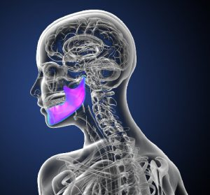 'x-ray of man with jaw pain'