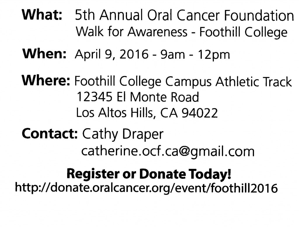 Save the date oral cancer address