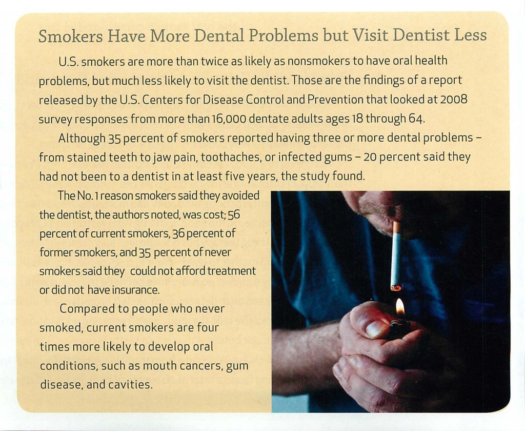 Smokers Have More Dental Problems