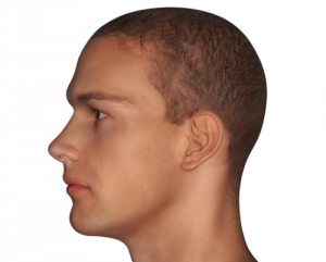 'side profile of man'