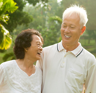 Couple in Cupertino followed dental implant post op instructions with success.